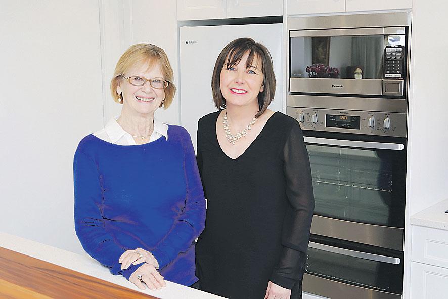 Johanna Peters with Jag Kitchens Designer Caroline Charman.
